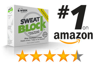 SweatBlock ban chay tren Amazon